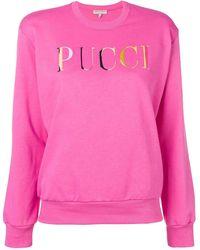 Emilio Pucci Logo-print Sweatshirt - Pink