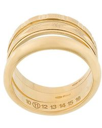 Maison Margiela - Wide Layered-look Ring - Lyst