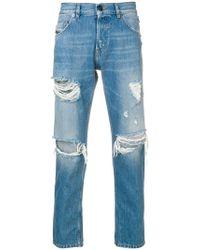 Diesel Black Gold - Slim-fit Ripped Jeans - Lyst