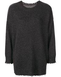 R13 ダメージ セーター - グレー