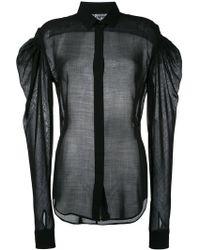 Saint Laurent - Sheer Drop Puff Sleeve Shirt - Lyst