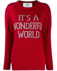 Alberta Ferretti スローガン セーター - レッド
