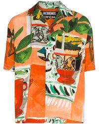 Jacquemus Camisa La Chemise estampada - Naranja