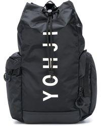 Y-3 プリント バックパック - ブラック