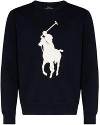 Polo Ralph Lauren Trui Met Contrasterend Logo - Blauw