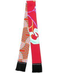 LaDoubleJ Skinny printed scarf - Rot