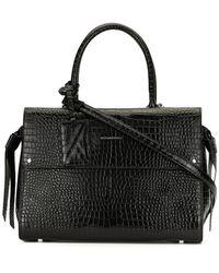 Karl Lagerfeld K/ikon Crocodile-embossed Tote Bag - Black