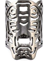 KENZO Grote'tiger'-ring - Metallic