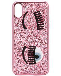 Chiara Ferragni 'Flirting' iPhone X-Hülle - Pink