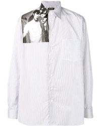 Raf Simons - Printed Panel Shirt - Lyst