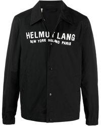 Helmut Lang ロゴ シャツジャケット - ブラック