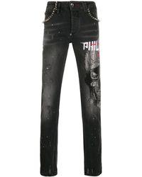 Philipp Plein スカル ストレートジーンズ - ブラック