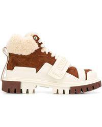 Dolce & Gabbana Трекинговые Ботинки Со Вставками - Коричневый