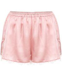 Fleur du Mal Lace Trim Tap Shorts - Pink