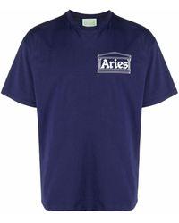 Aries Mystic Business Tシャツ - ブルー