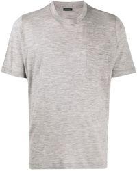 Zanone ウール Tシャツ - グレー