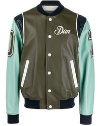 DSquared² Giacca Varsity con design color-block Dan - Verde