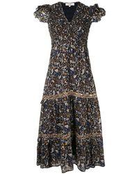 Sea Walker フローラル ドレス - ブラック