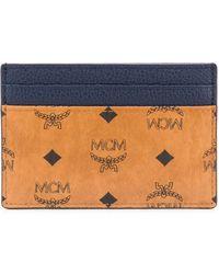 MCM Portafoglio con design color-block - Marrone