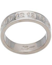 Maison Margiela Ring mit Nummern - Mettallic