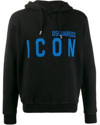DSquared² Sudadera con capucha y logo - Negro