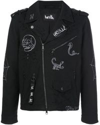 Haculla Thunder Motorcycle Embroidered Jacket - Black