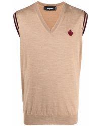 DSquared² Embroidered-logo Sweater Vest - Multicolour