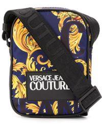 Versace Jeans Baroque Print Messenger Bag - Blue