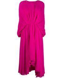 MSGM Плиссированное Платье С Рукавами 'летучая Мышь' - Розовый