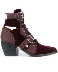 Chloé Ботинки Rylee 70 С Вырезами - Пурпурный