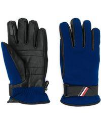 3 MONCLER GRENOBLE Handschuhe aus Leder - Blau