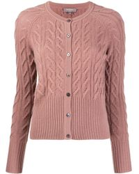 N.Peal Cashmere Cable Knit Cardigan - Brown