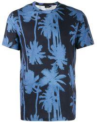 J.Lindeberg Camiseta Silo estampada - Azul