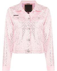 Philipp Plein Куртка С Кристаллами - Розовый