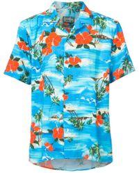 Gitman Brothers Vintage - Ocean Print Shirt - Lyst