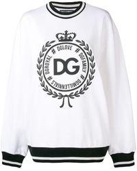 Dolce & Gabbana - ロゴプリント スウェットシャツ - Lyst