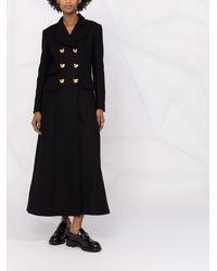 Moschino Платье Макси С Пуговицами Teddy Bear - Черный