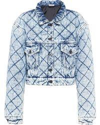 Miu Miu Quilted Denim Jacket - Blue