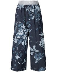 I'm Isola Marras - Cropped Floral Print Trousers - Lyst