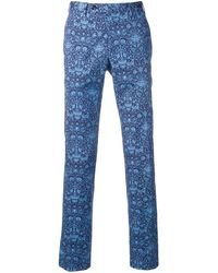 PT01 Pantalones con corte slim - Azul