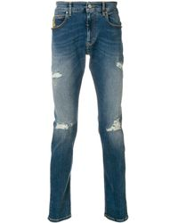 Vivienne Westwood Anglomania Distressed jeans - Bleu