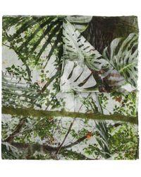 Faliero Sarti Jungle Print Scarf - Green