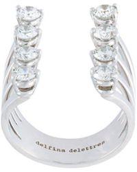 Delfina Delettrez Anello 'Dots' con diamanti - Multicolore