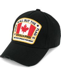 DSquared² Canadian Flag Patch Baseball Cap - Black
