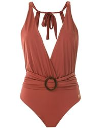 Brigitte Bardot - Draped Swimsuit - Lyst