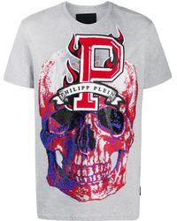 Philipp Plein - Camiseta Flame con cuello redondo - Lyst