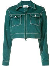 Kirin Укороченная Джинсовая Куртка - Зеленый