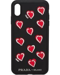 Prada Heart Motif Iphone Xs Max Case - Multicolor
