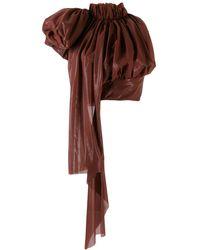 Maticevski Oversized Drape Top - Brown
