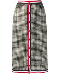 Thom Browne Check-pattern Pencil Skirt - Multicolor